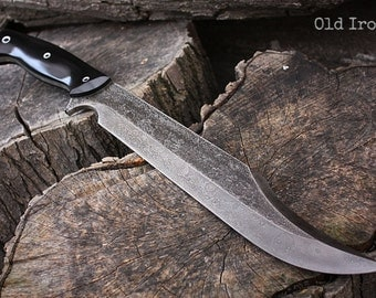 "Handcrafted blade FOF ""Old Iron"" full tang modern bowie knife"