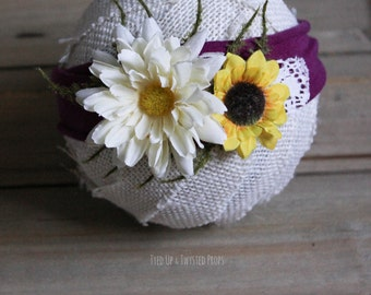 Newborn Flower Headband RTS