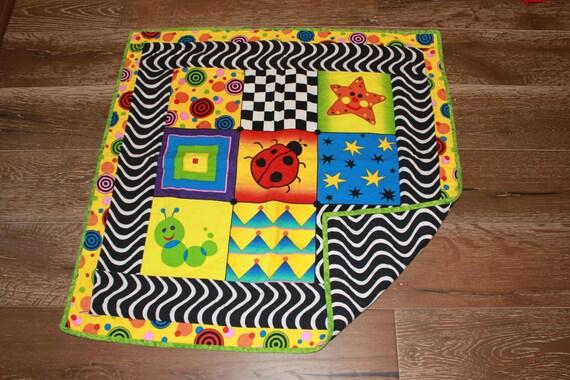 Sale baby einstein quilt floor time quilt high contrast for Floor quilt for babies