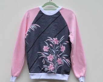 Upcycled Pink Lily Jumper