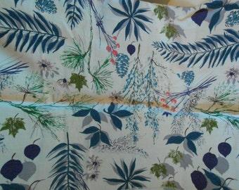 vintage barkcloth print fabric 46 wide  1  1/3 yard