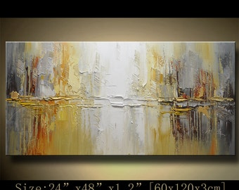 contemporary wall art,Palette Knife Painting,colorful Landscape painting,wall decor,Home Decor,Acrylic Textured Painting ON Canvas Chen b022