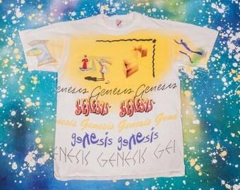 1990s GENESIS Phil Collins T-Shirt Size L 90s
