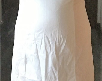 No lace vintage white slip, 37 inches.