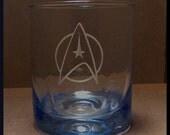 Starfleet scotch glass