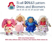 Waldorf Doll Dresses and Bloomers in 6 Sizes PDF Pattern INSTANT DOWNLOAD