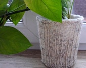 Plant Pot Cozy, Knit Plant Cover, Oatmeal  Plant Pot Cozy, Flower Pot Cozy, Mothers day gift, Valentines gifts ,