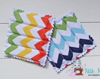Set of 2 SEWING PATTERN WEIGHTS Chevron multicoloured