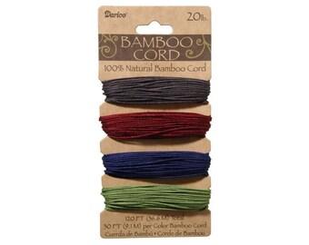 Bamboo Cord Assorted Jewel Tones Color Set (  20 lb 120 feet )