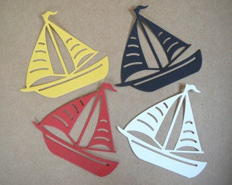 Sailboat Boat Die Cut Embellishment for Scrapbooking, Card Making