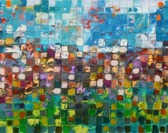 NEW XL ART Original Art by Caroline Ashwood - Textured and contemporary abstract painting on canvas - Free Shipping