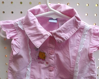 Disney Winnie Pooh Pink Top, Baby Girl Clothes, Pooh