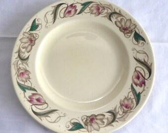 Susie Cooper Endon Salad Plate 1940s England 8 Inches Retro Tulips Smooth Rim Retro Party