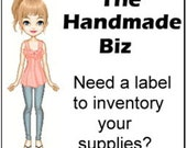 Jewelry or Craft Supply Inventory Tag Label printable Sheet Instant Download