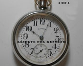 Under Payment plan 1907 Illinois Pocket Watch Size 18s, 17J, Lever Set, Sterling, Rail Road Grade