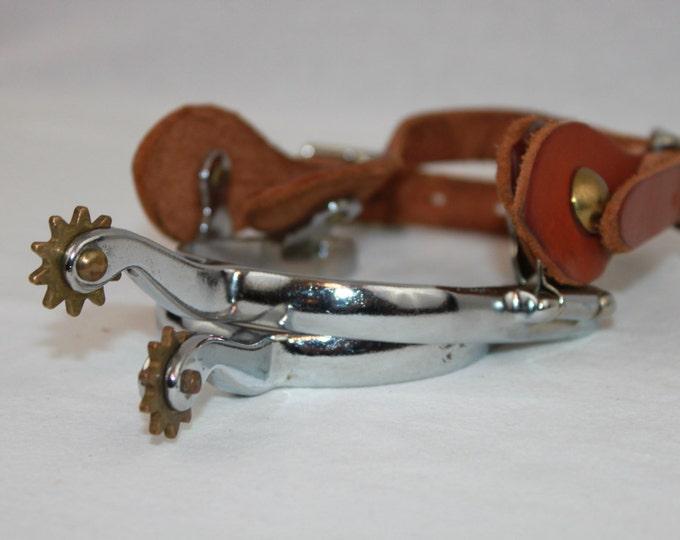 Vintage Pair of 10 Point Western Cowboy Spurs