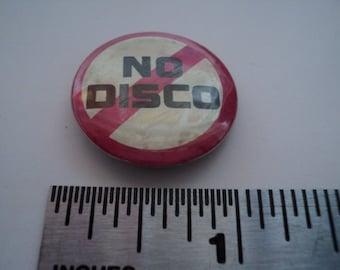 No Disco Button 1970's