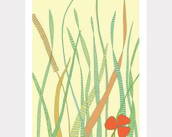 LAST ONE!!! Summer Grass / A4 print / Art print / Illustration / Contemporary art /