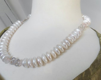 Pearl necklace fine jewelry statement best white coin pearls with Sterling Silver