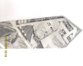 Men's Dollar Necktie - Tie -  cotton fabric ~ money tie