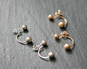 Ball stud ear jackets, sterling silver ball, rose gold ball, double ball, double sided earring, earring jacket, modern, trendy - stung