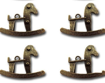 4 Metal Rocking Horses
