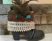 Boot cuff. Reserved for Jacque