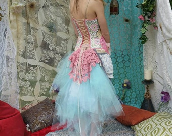 Fantasy Fairy Festival dress with bells and fairy pouch with hidden treasures inside. Size 4-6