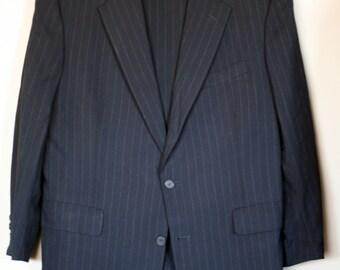 vintage brooks brothers suit black pinstripe wool size 42