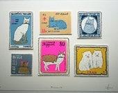 Meeeow (international cat stamps)