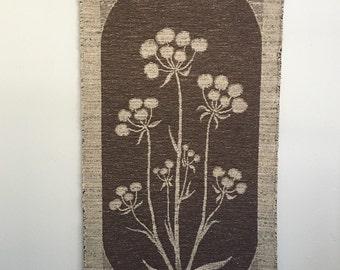 Vintage Boho Lissa Hjelt Finnish Tapestry