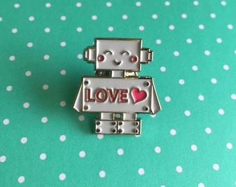 Love Robot Lapel Pin