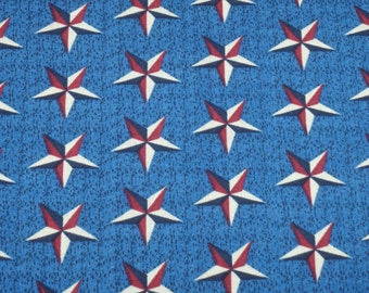 Military Stars, Red White & Blue, by the half yard - Patriotic Stars