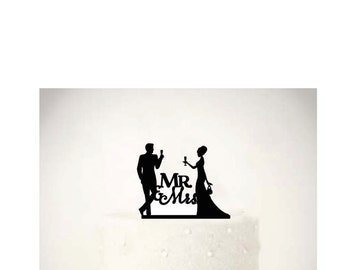 Wine Lover Couple - Cake Topper