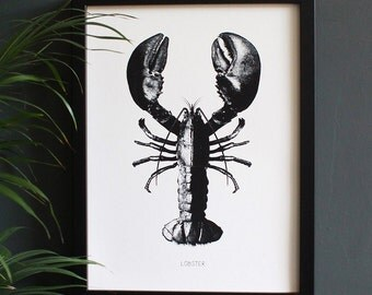 Encyclopedia Inspired Fine Art Print, Lobster