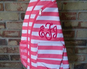 Personalized Trendy Sling Backpack/Monogram Sling/ Girls Sling Bag/ Back to school bag/Baby Diaper Bag/Baby Shower gift