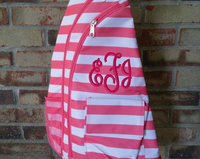 Personalized Trendy Sling Backpack/Monogram Sling/ Girls Sling Bag/ Back to school bag/Baby Diaper Bag/Baby Shower gift