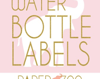 Printable Editable Paper Zoo Water Bottle Labels