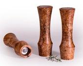"10"" tall burl wood Portland Peppermill Company Salt or Pepper mill ceramic grinder lifetime warranty CrushGrind Maple burl"