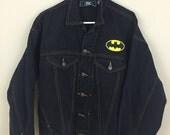 Vintage 1990s Batman DC Comics Denim Jacket