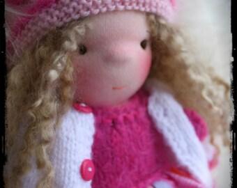 "Agnès. Waldorf doll 14"" (35cm)"