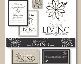 Deluxe Print and Web Branding Package - Logo, Business Card Design, Banner, Avatar, and Thank You Card Design - Unique Business Branding
