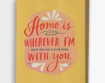 What To Do For Dinner With You Card / Valentine Love Card No. 262-C