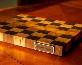 Custom Maple and Walnut Endgrain Cutting Board!
