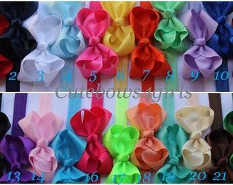 PICK 5 headbands - 10% off baby headband - baby bow headband - headband baby - elastic headband - bow headbands - bow and bands - baby girl