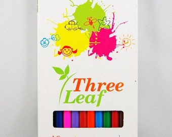 Three Leaf Color Pencils 12Ct