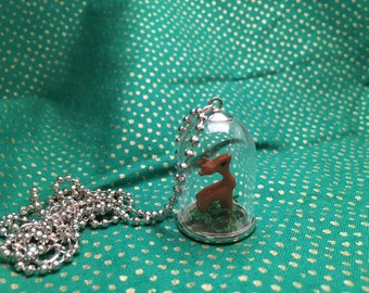 Deer in a Dome Necklace