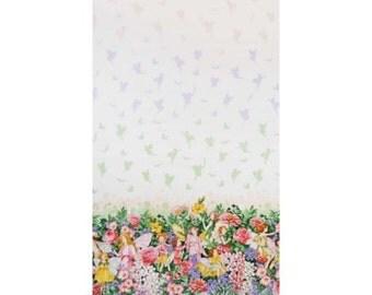 Half Metre Flower Fairy Dream Border 100% Cotton Quilting Fabric Flower Fairies