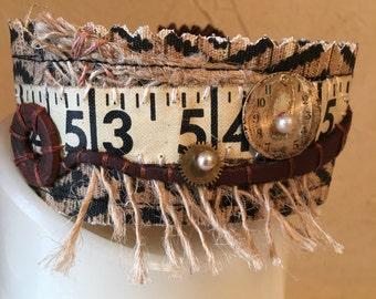 Fabric Cuff - Tape Measure