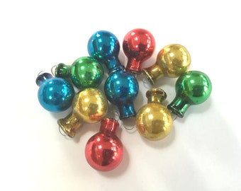 VINTAGE FEATHER TREE Ornaments - Multi Colored - Christmas Ornaments - 10 - Glass Ornaments
